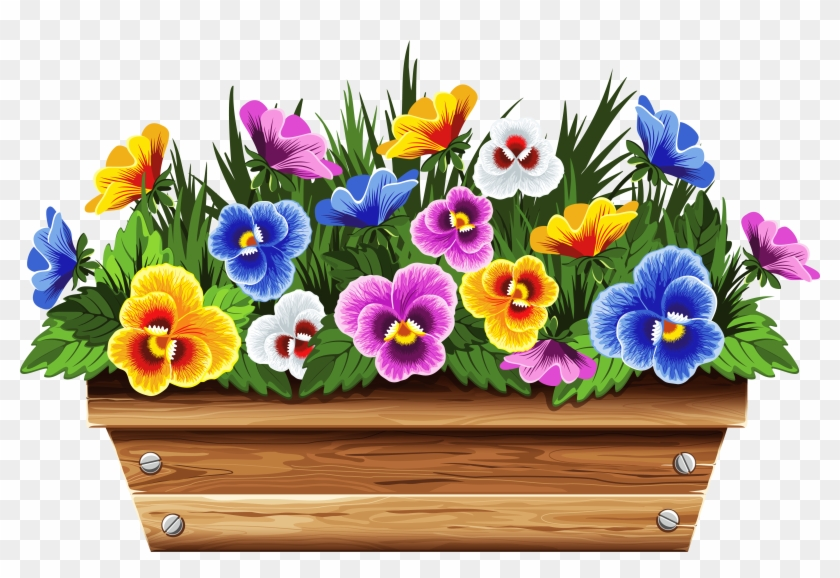 Potted Plants Clipart Planter Box, HD Png Download.