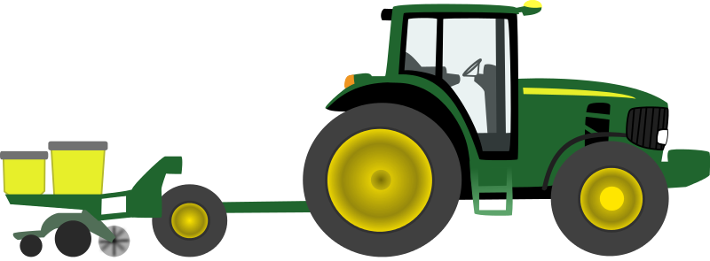 Free Clipart: Farm tractor with planter.