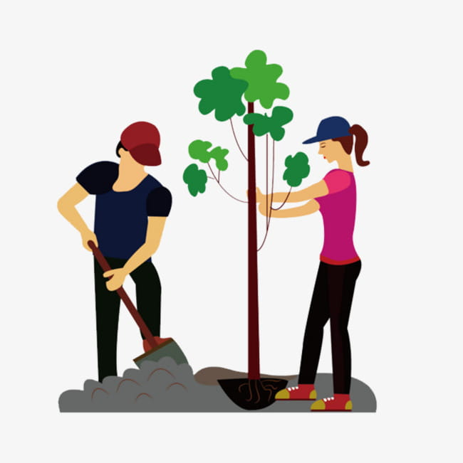 The man who planted trees PNG clipart.