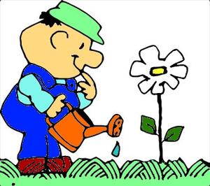 Planting Flower.