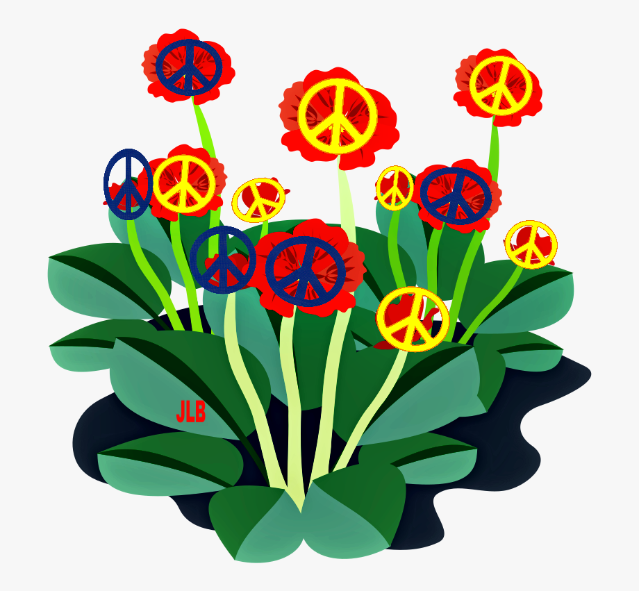 Red Flower Clipart Groovy.