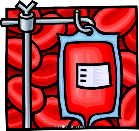blood plasma Royalty Free Vector Clip Art illustration.
