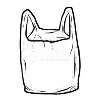 Plastic Bag Cartoon Hand Drawn stock vectors.
