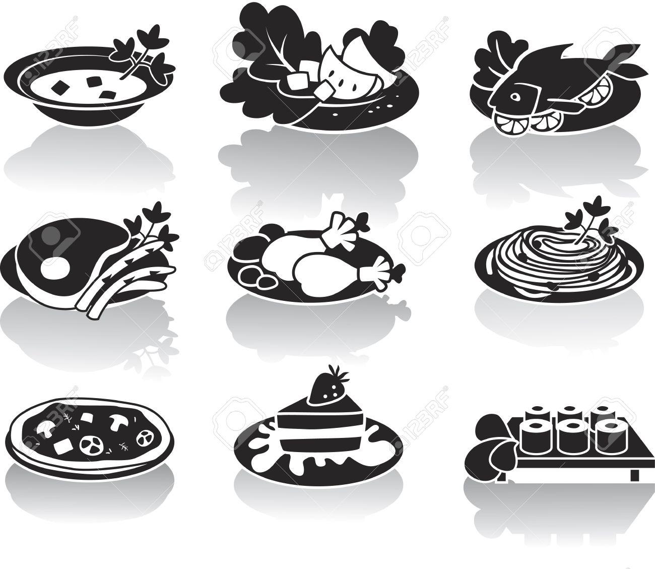 Soupe, Plat De Poisson, Plat De Viande, Salade, Plat De Poulet.