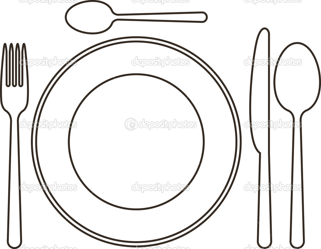 Plate Knife And Fork Clip Art N6 free image.