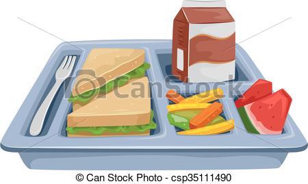 Vecteurs EPS de déjeuner, plateau, repas, régime.
