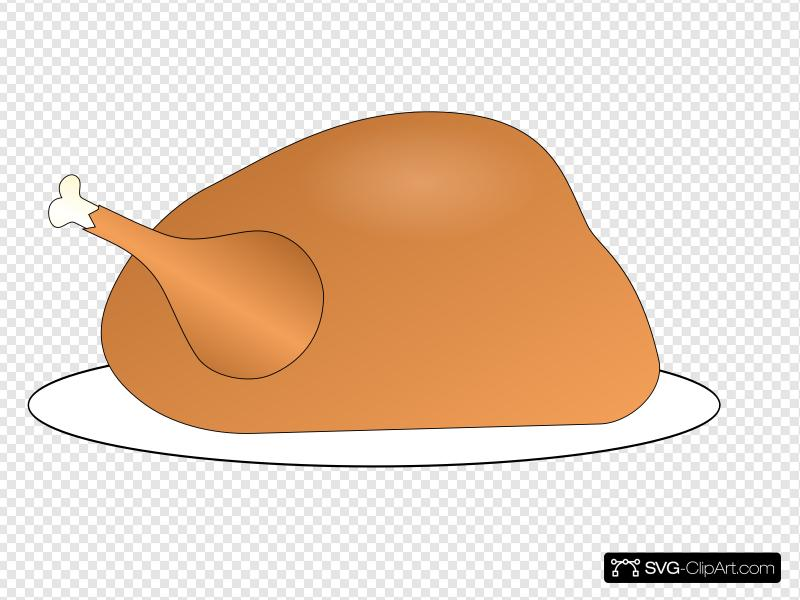Turkey On Platter Clip art, Icon and SVG.