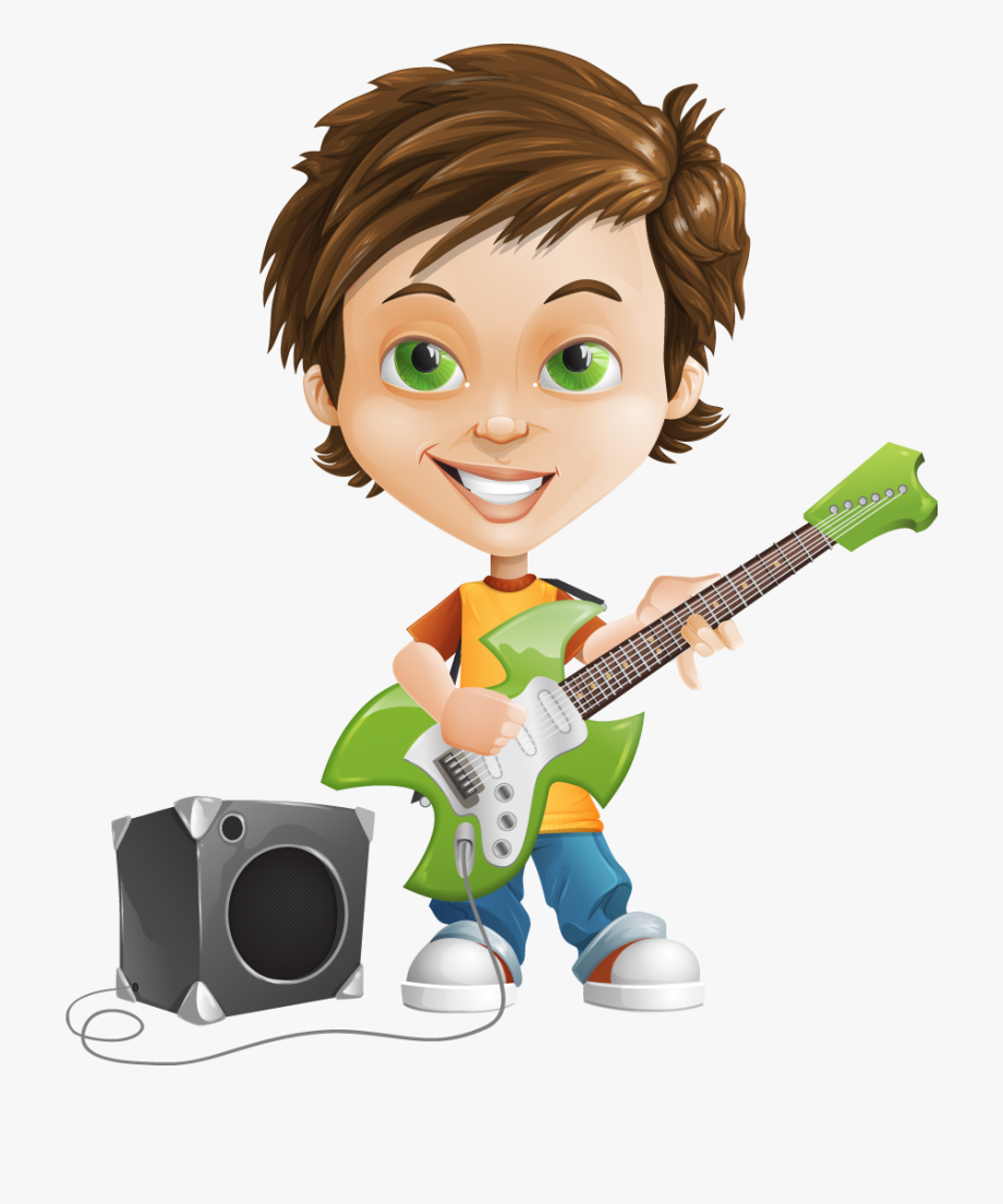 Anime Boy Clipart Guitar.