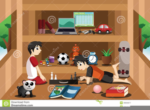 Children Playing House Clipart.