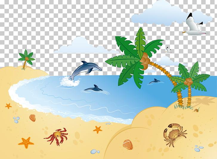 Cartoon , Beach PNG clipart.