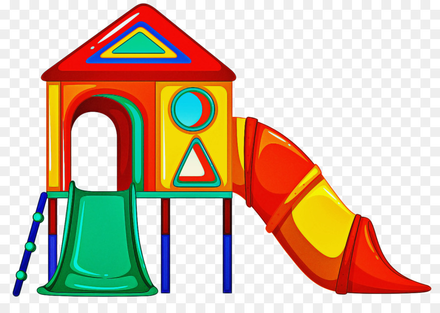 clip art playhouse public space outdoor play equipment chute.