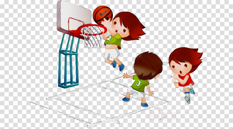 cartoon basketball hoop clip art play basketball player.
