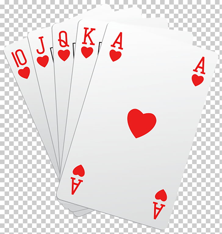 Game Poker Playing card Ace of hearts , Pink playing cards.