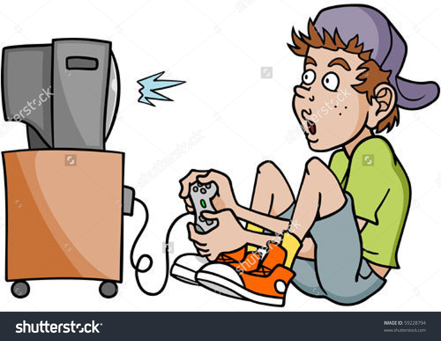 Showing post & media for Cartoon guy playing games.