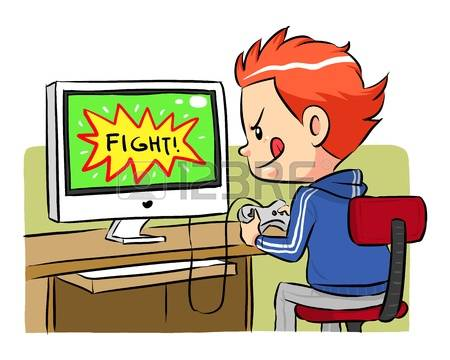 clipart playing games #7