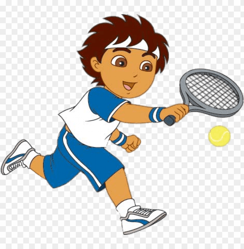 Download diego playing tennis clipart png photo.