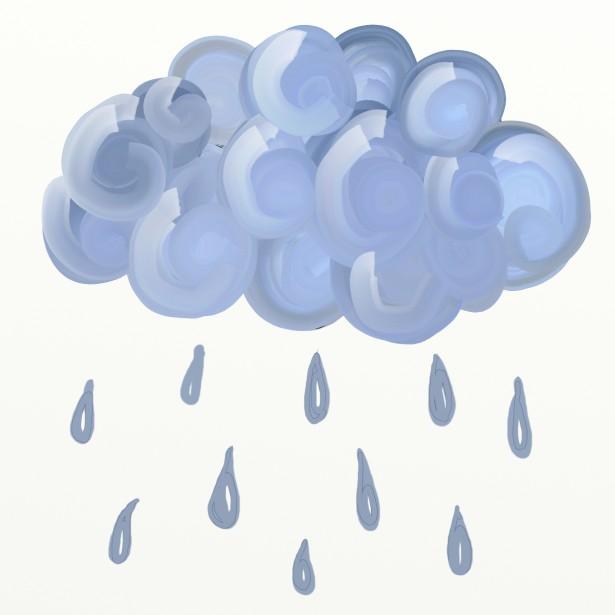 Rain Cloud Clipart Free Stock Photo.