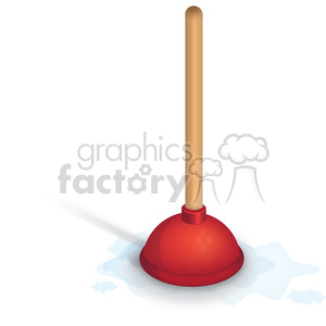 red plunger clipart. Royalty.