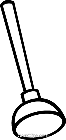 Toilet plunger Royalty Free Vector Clip Art illustration.