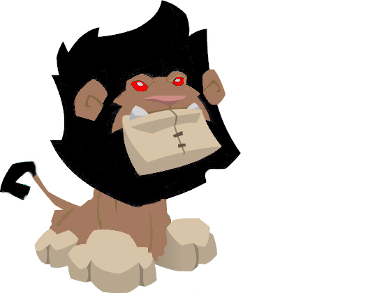 Duststars animal jam news: Scary Lion Plushie I Found.