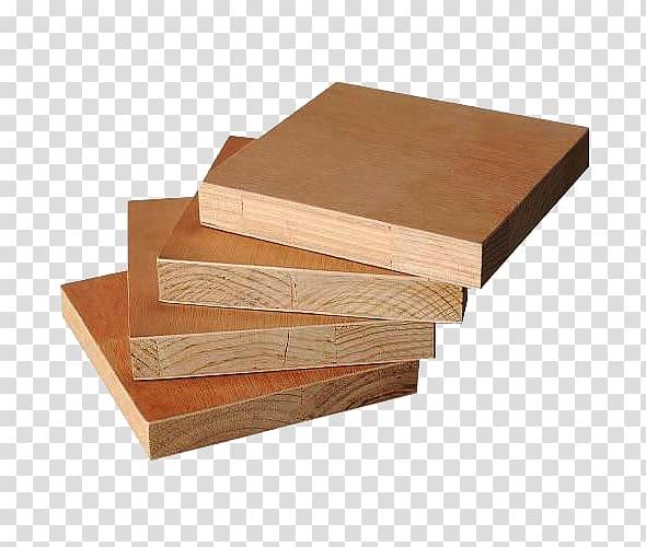 Plywood Wood veneer Manufacturing Hardwood, A few pieces of.
