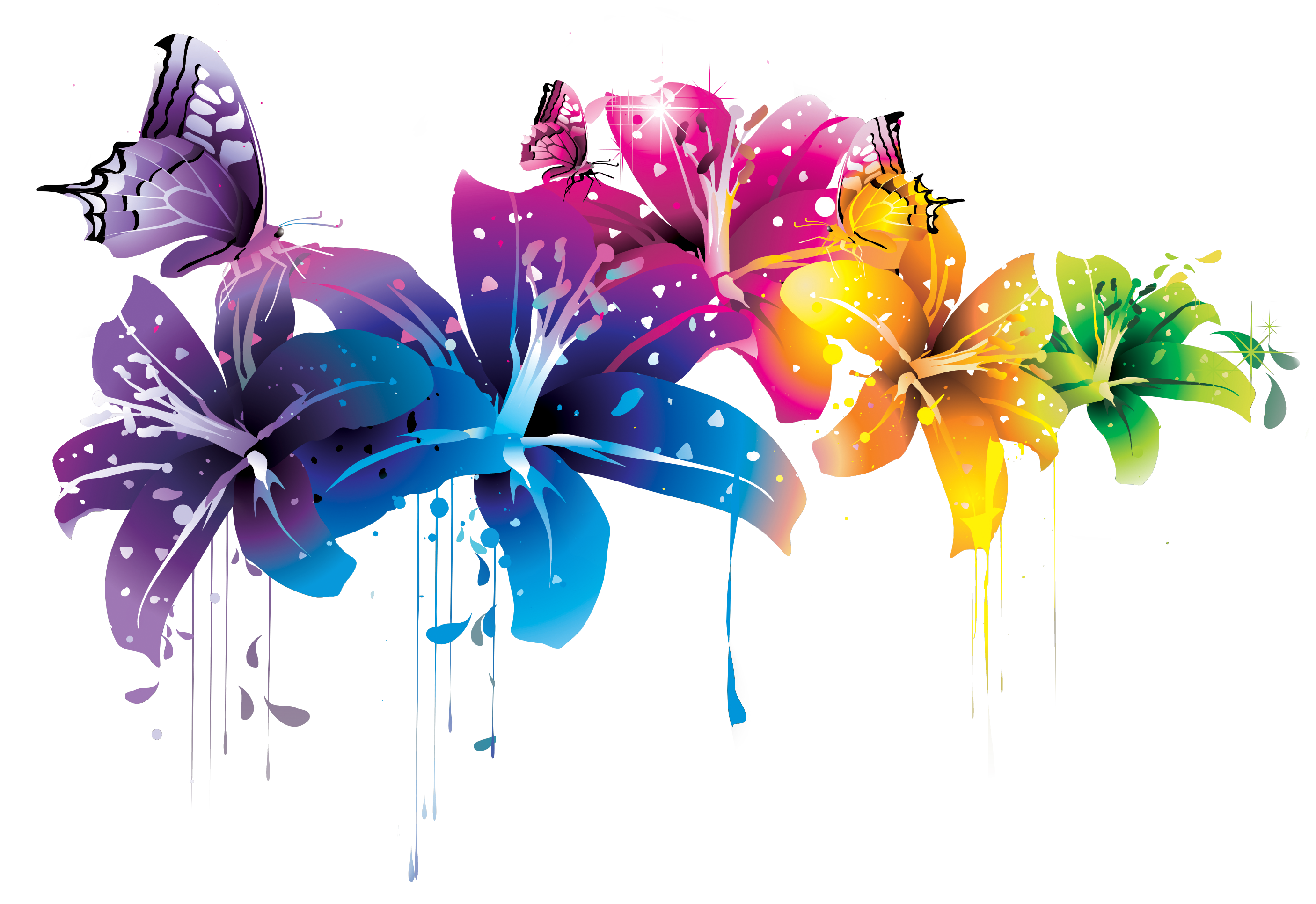 DeviantArt: More Like ++ Colorful Flower Vector Clipart PNG.