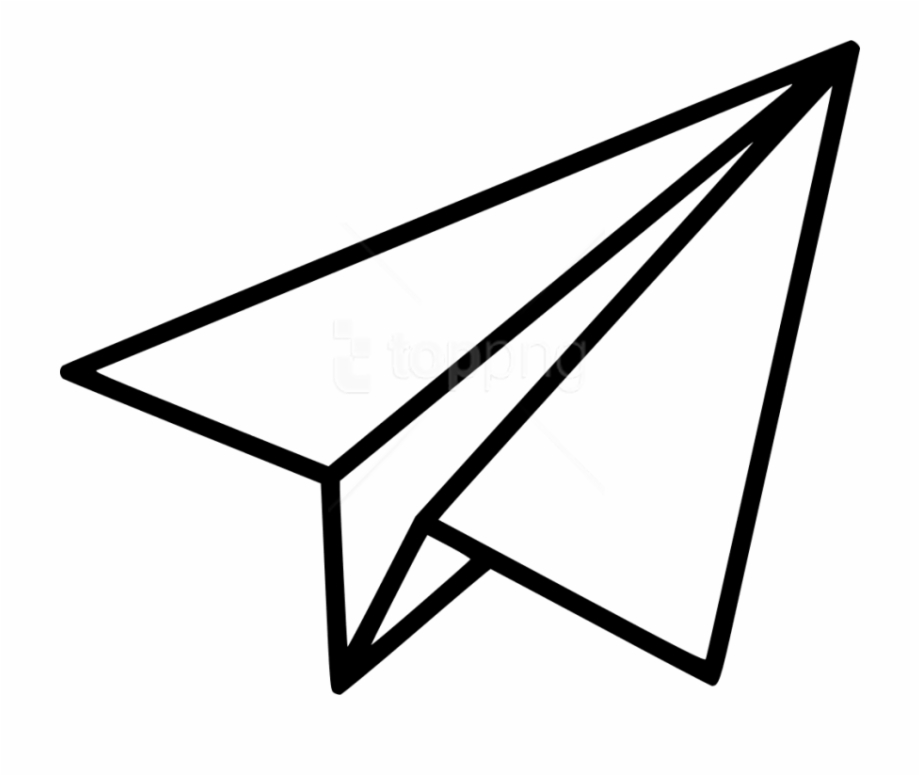 Airplane Png Download Black Shape Paper Plane Clipart.