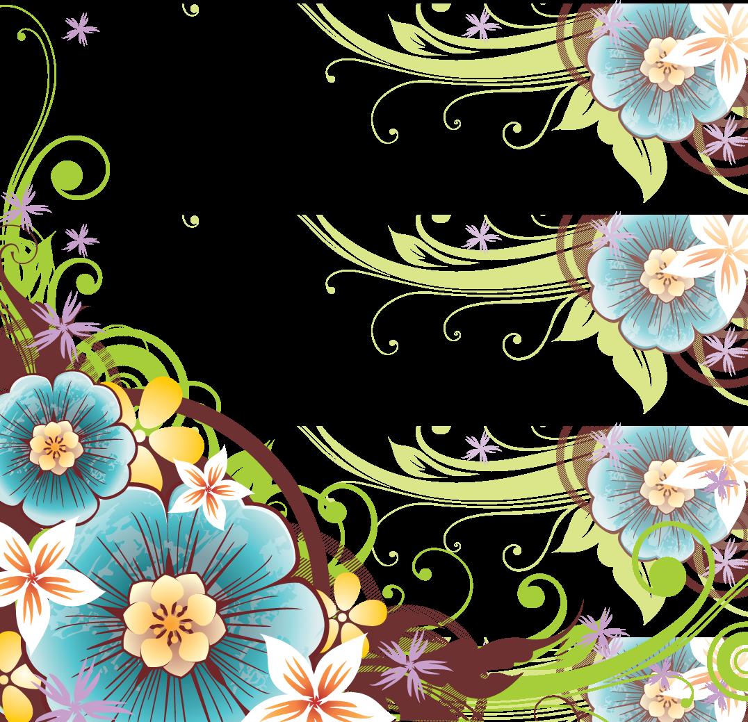 3 2 Flowers Borders Png File.
