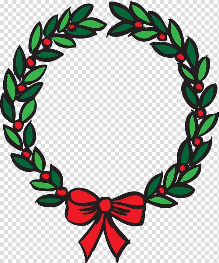 Wreath Christmas , Lovely Christmas leaf ring transparent.