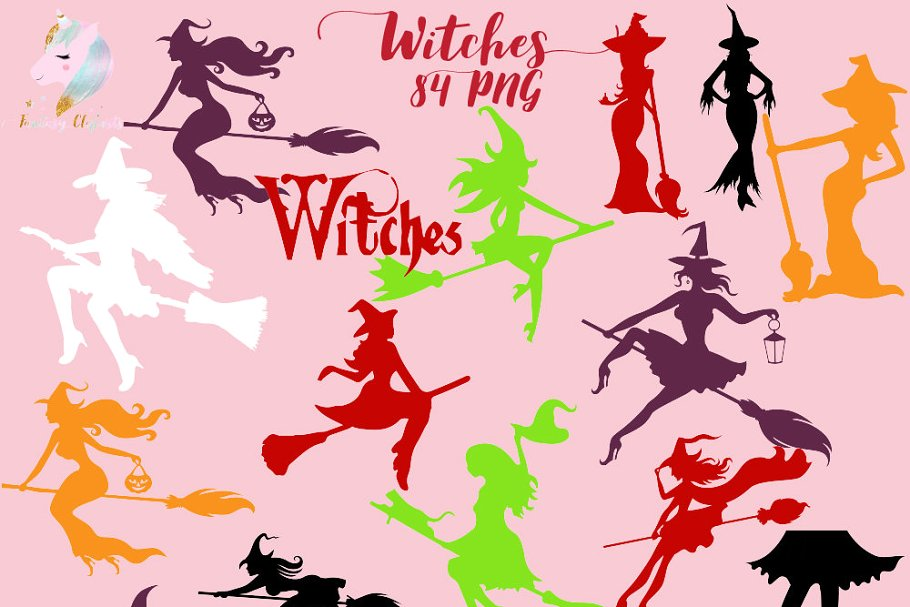 Hot Witches Clipart 84 PNGs.