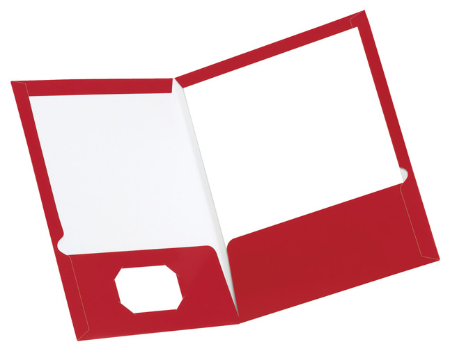 Oxford Laminated Pocket Folder, Letter, 2.