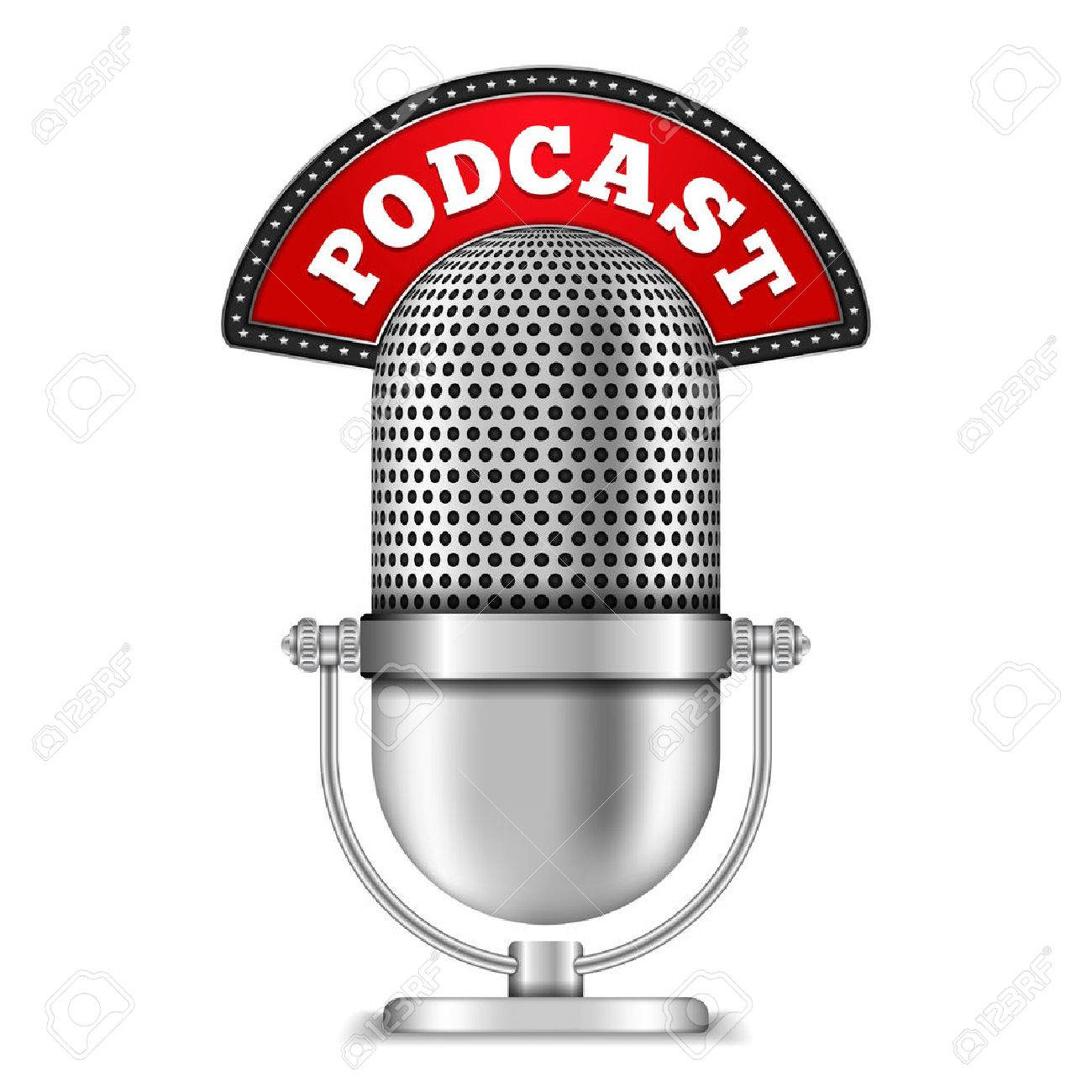 Podcast Microphone Clipart.