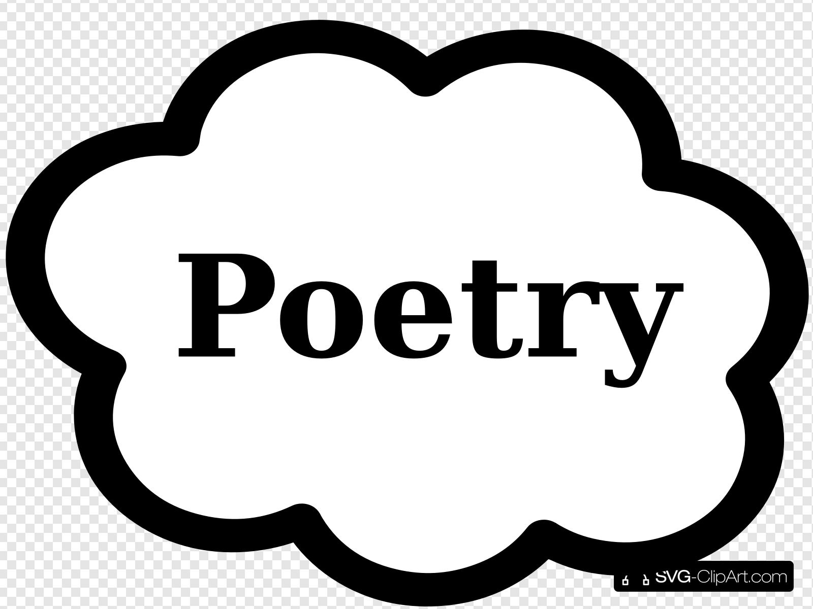 Poetry Book Sign Clip art, Icon and SVG.