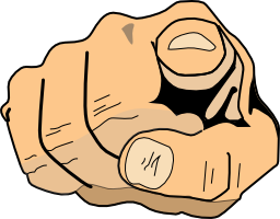 Point at you clip art download png.