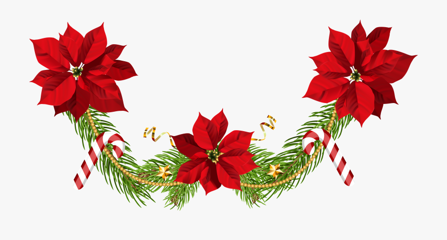 Christmas Ornaments Clipart Poinsettia.