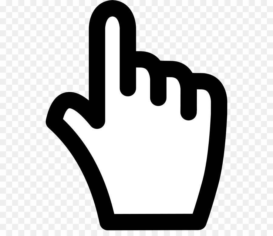 Hand Cursor PNG Computer Mouse Pointer Clipart download.