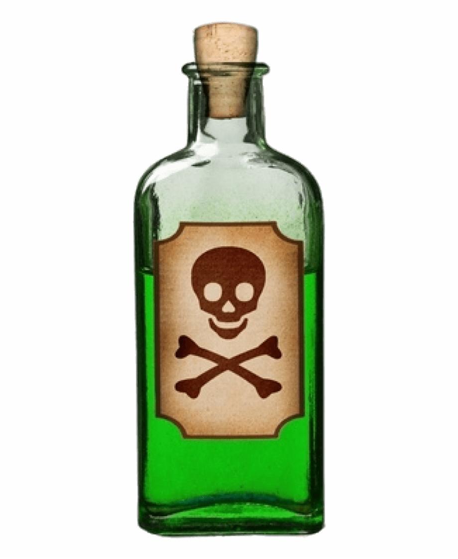 Bottle Of Green Poison Bottle Of Poison Png.