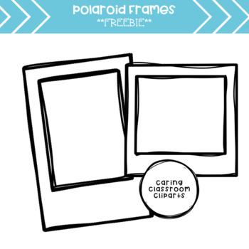 Polaroid Frames Clipart *Freebie*.