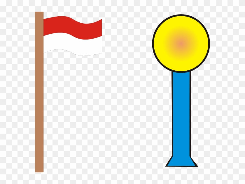 Red Flag On Pole Clip Art.