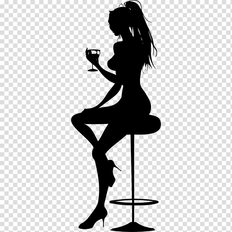 Cocktail Silhouette Party , pole dance transparent background PNG.