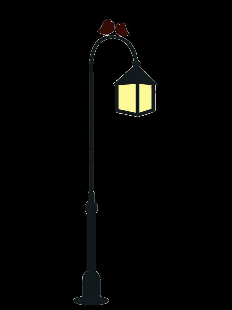 Hand Painted Street Light Poles, Street Clipart, Street Light.