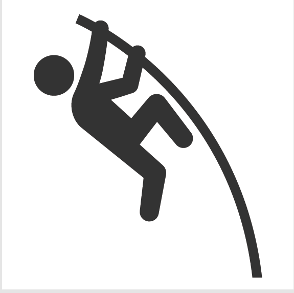 Athletics and Gymnastics Icon Set.