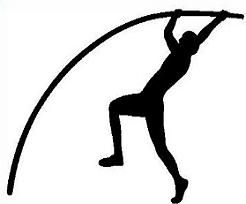 Track and field free track pole vault clipart.