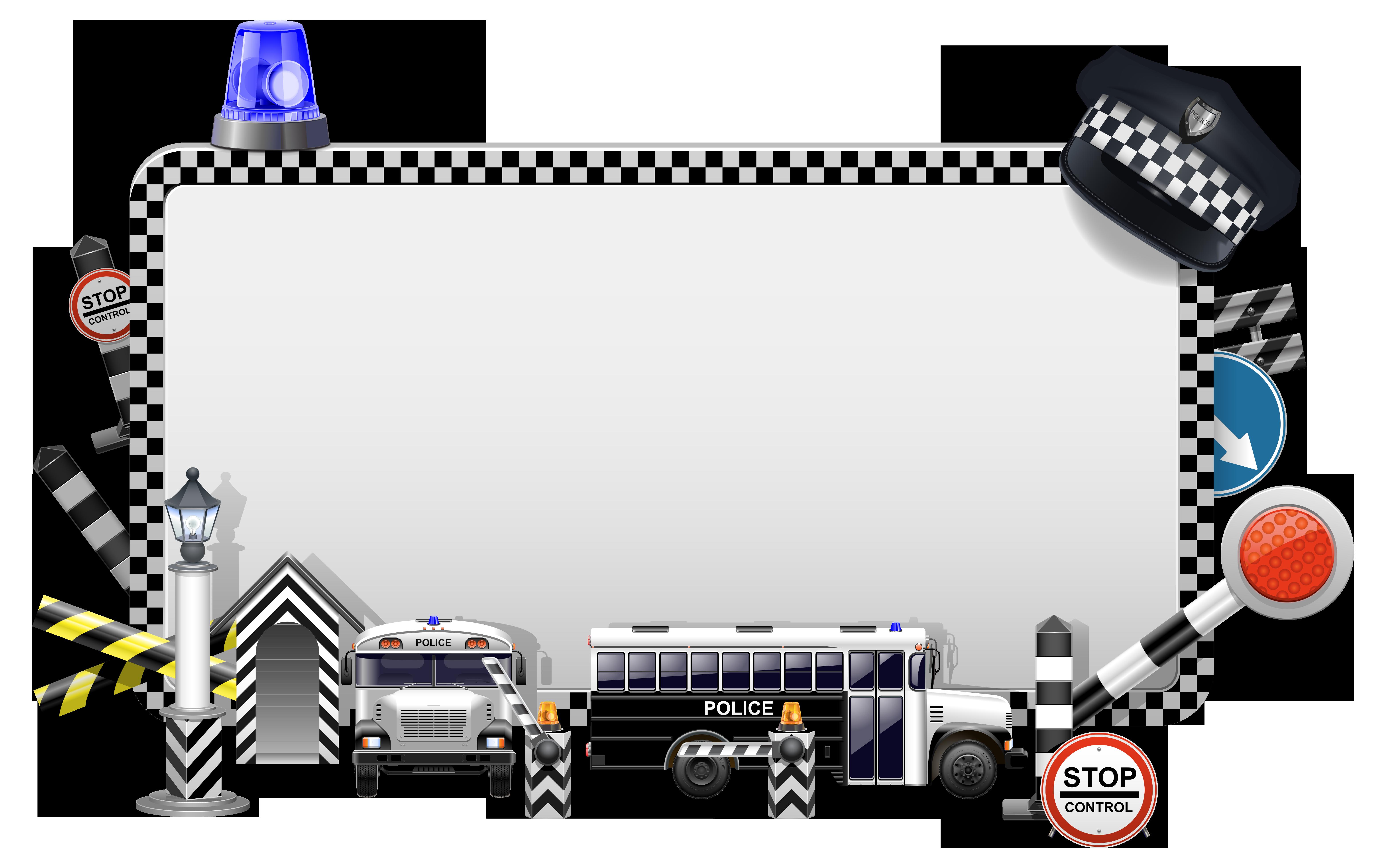 Police PNG Clip Art Image.