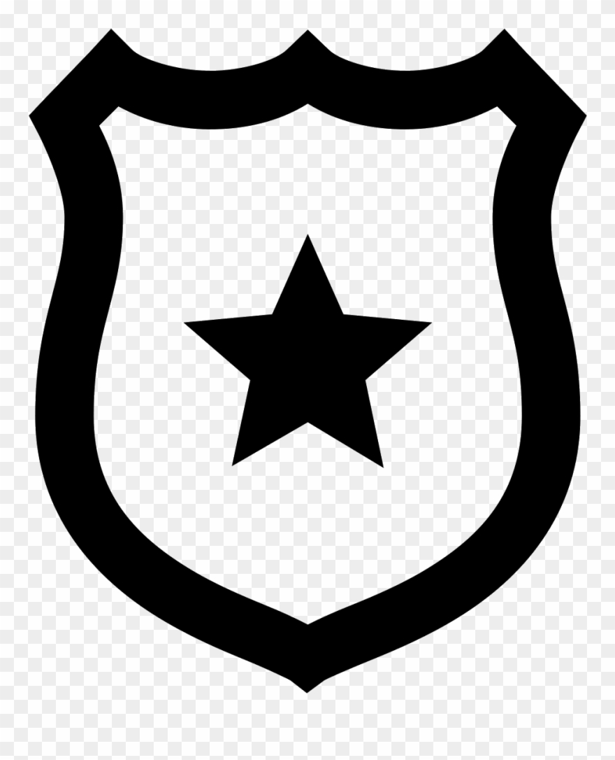 This Icon Represents A Police Badge.