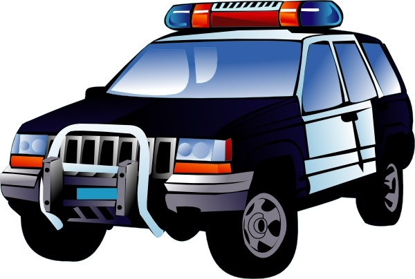 Police Car clip art Free vector in Open office drawing svg.
