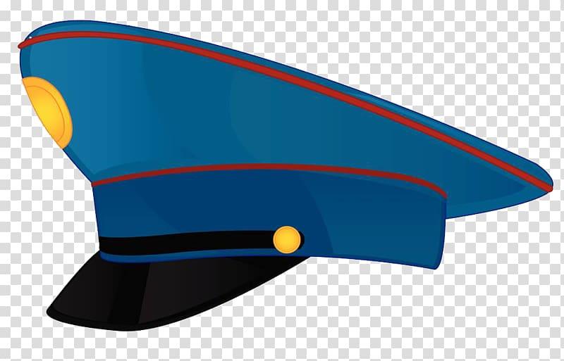 Peaked cap Mail carrier , Blue Police Hat transparent.