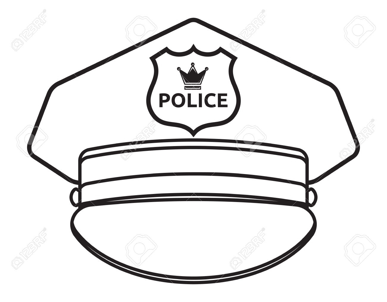 229 Police Hat free clipart.