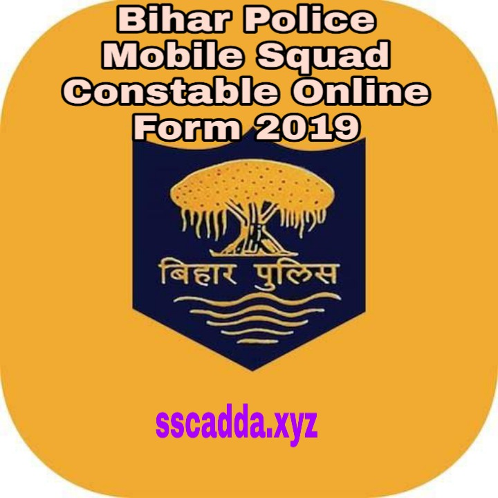 Bihar Police Mobile Squad Constable Online Form 2019.