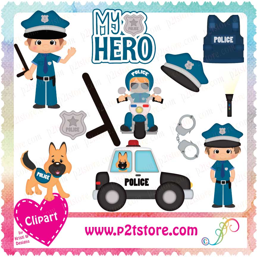 Clipart Police Officer Boys LS.